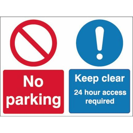 No parking / Keep clear 24 hour access required