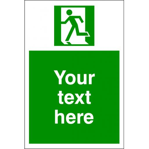 Choice of First Aid /Fire Exit Symbol + Your text here