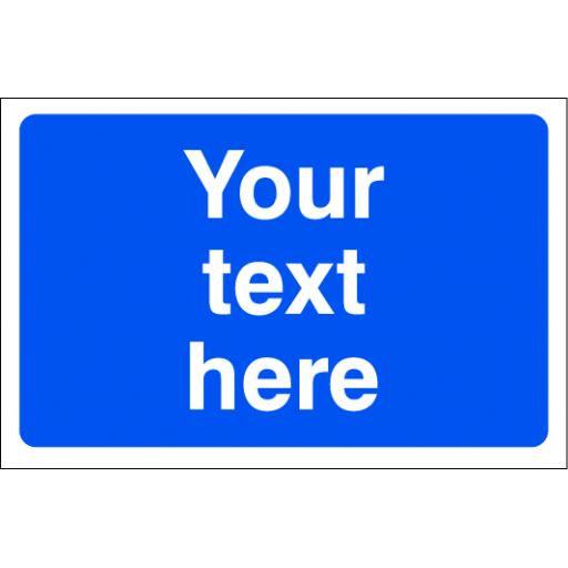 Your text here (mandatory blue background)