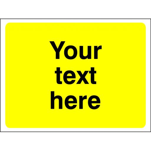 Your text here (warning yellow background)
