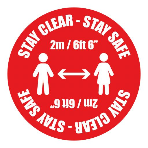 Stay Clear Stay Safe - Floor Graphics (bulk pack)