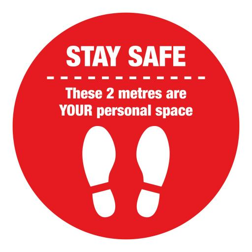 Personal Space - Floor Graphics (bulk pack)