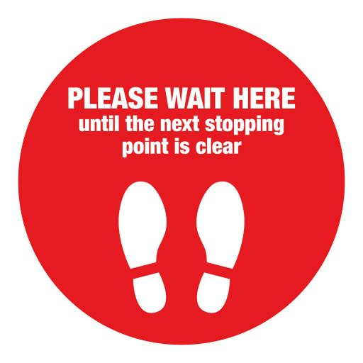 Please Wait Here - Floor Graphics (bulk pack)