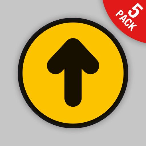 Arrow (Yellow Round) - Floor Graphics (bulk pack)