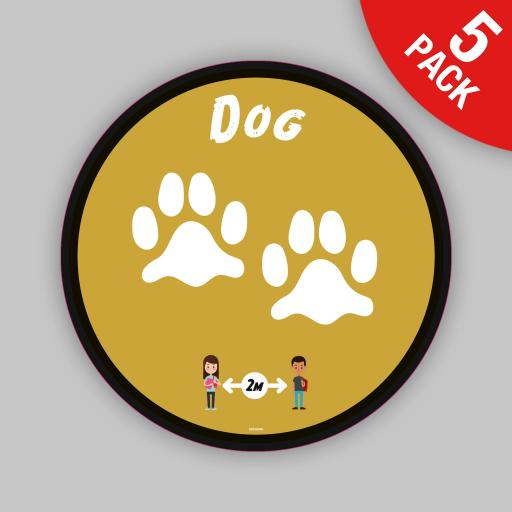 Dog - Floor Graphics (bulk pack)
